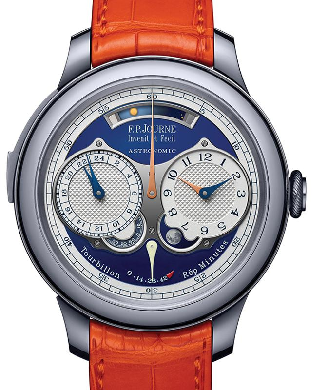 The F.P. Journe Astronomic Blue sold for CHF 1.8-million (about $1.8-million).