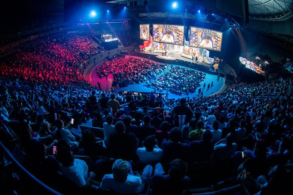 The crowd at the League of Legends World Championship.