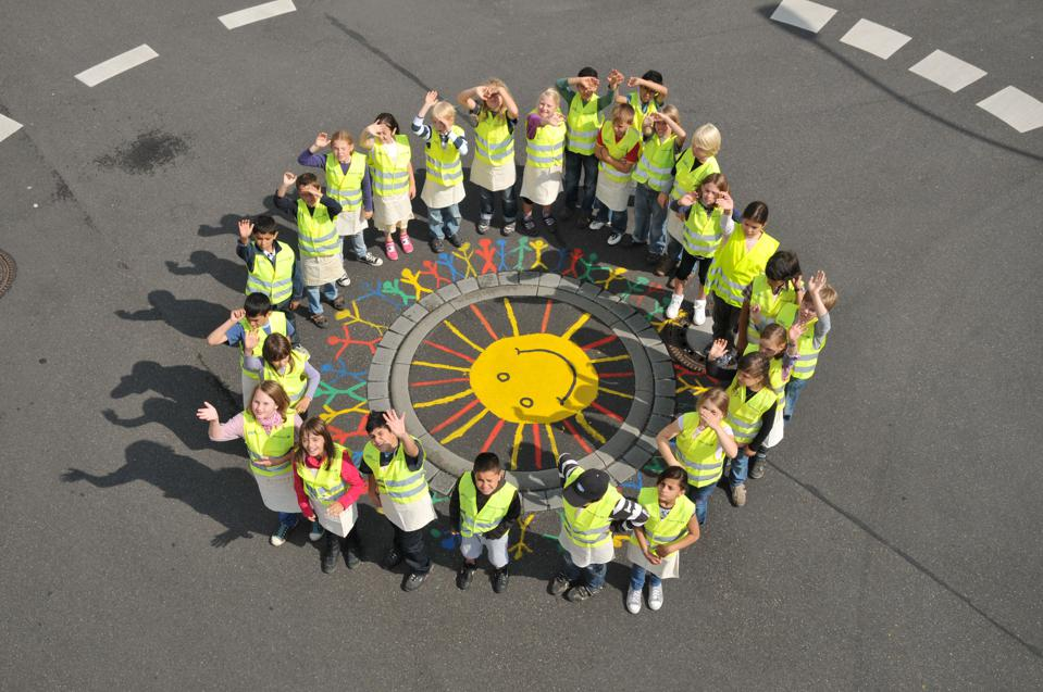 A children-designed roundabout in Kerpen, Germany.