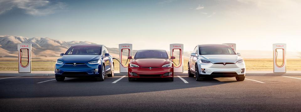 Tesla Superchargers.