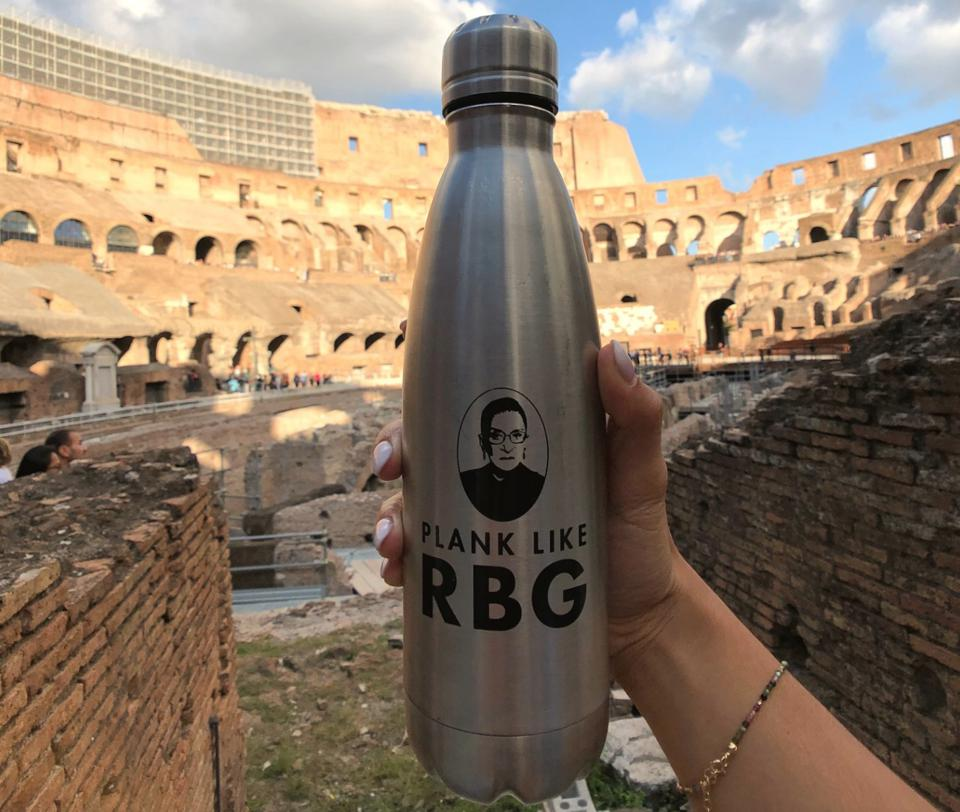 Plank Like RBG water bottle from The Outrage