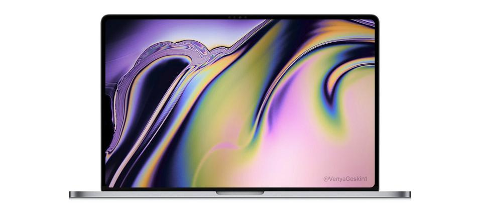 Render of a 16-inch MacBook Pro.