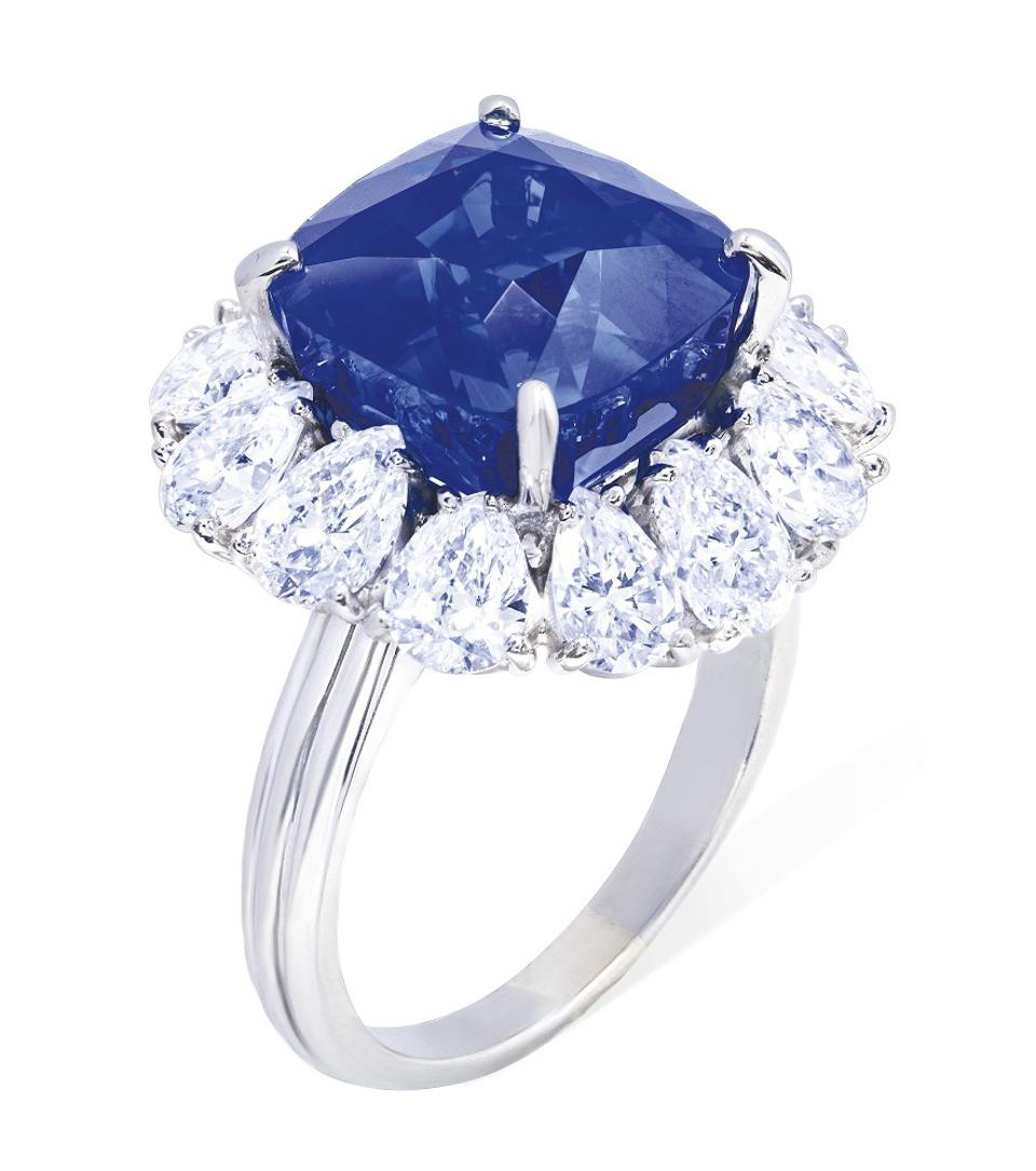 Sapphire and diamond ring by Cartier
