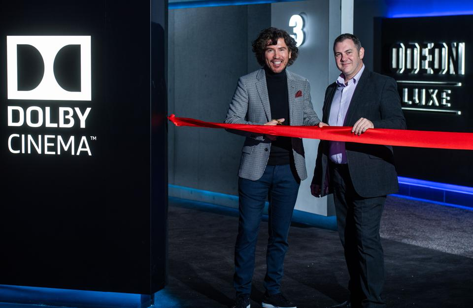 Ribbon Cutting at the Dolby Cinema Launch at ODEON Luxe Broadway Plaza
