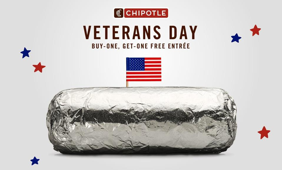 Chipotle Veterans Day offer