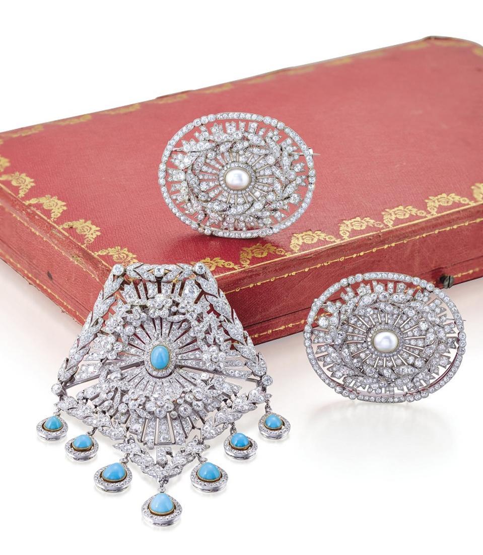 Cartier diamond brooches Christie's