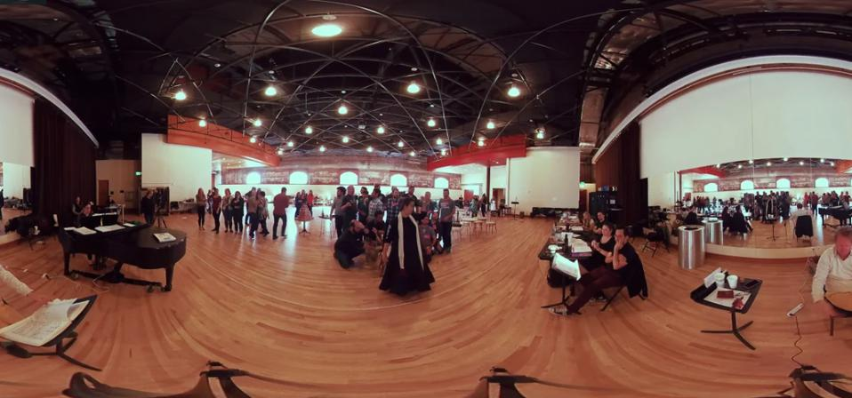360 capture of opera rehearsal