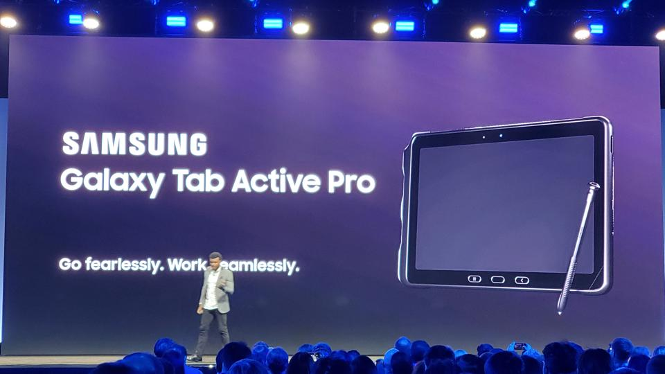 Samsung's Taher Behbehani introduces the new Galaxy Tab Active Pro