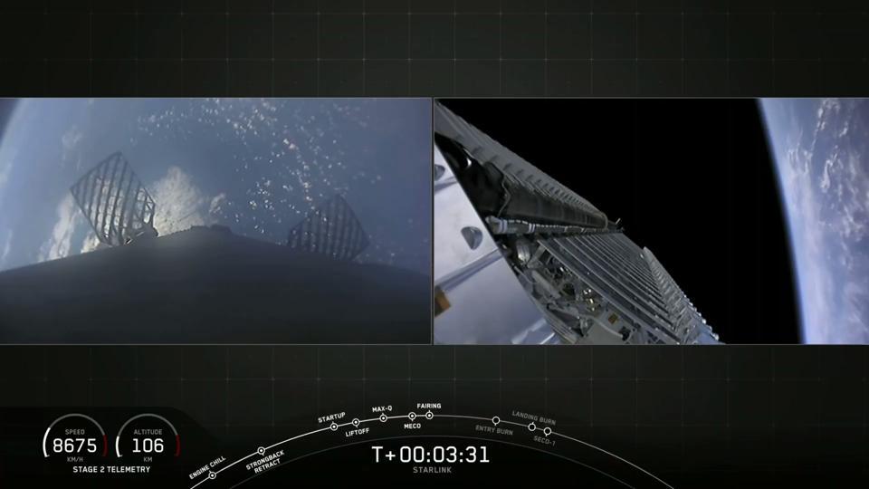 Starlink-1 fairing deployment