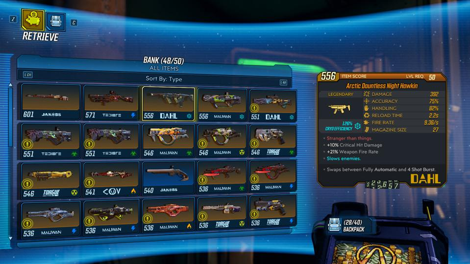 'Borderlands 3' Badly Needs An Official Inventory Management App