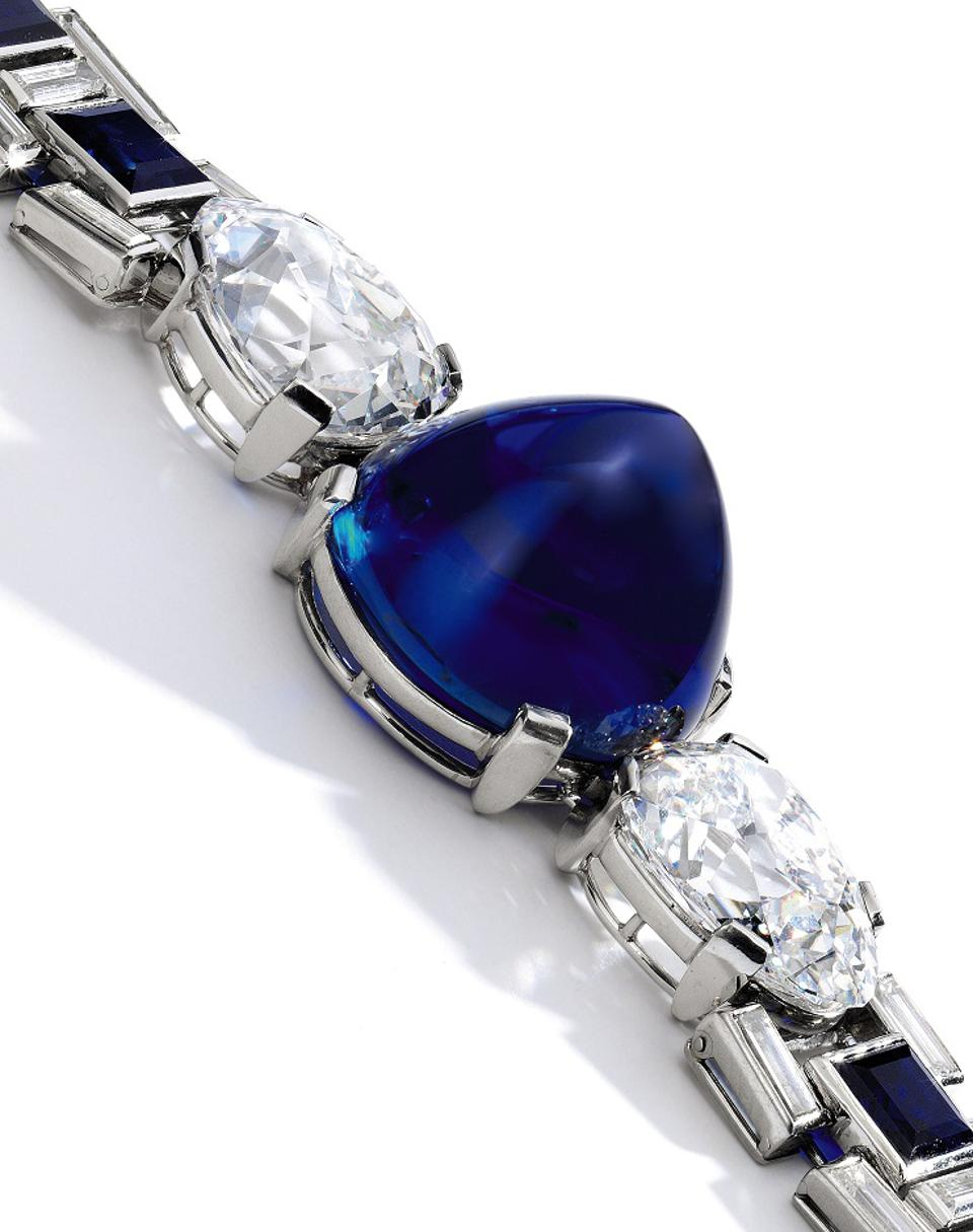 Sapphire and diamond bracelet by Cartier at Sotheby's Geneva