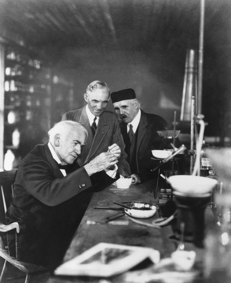 Thomas A. Edison and Henry Ford
