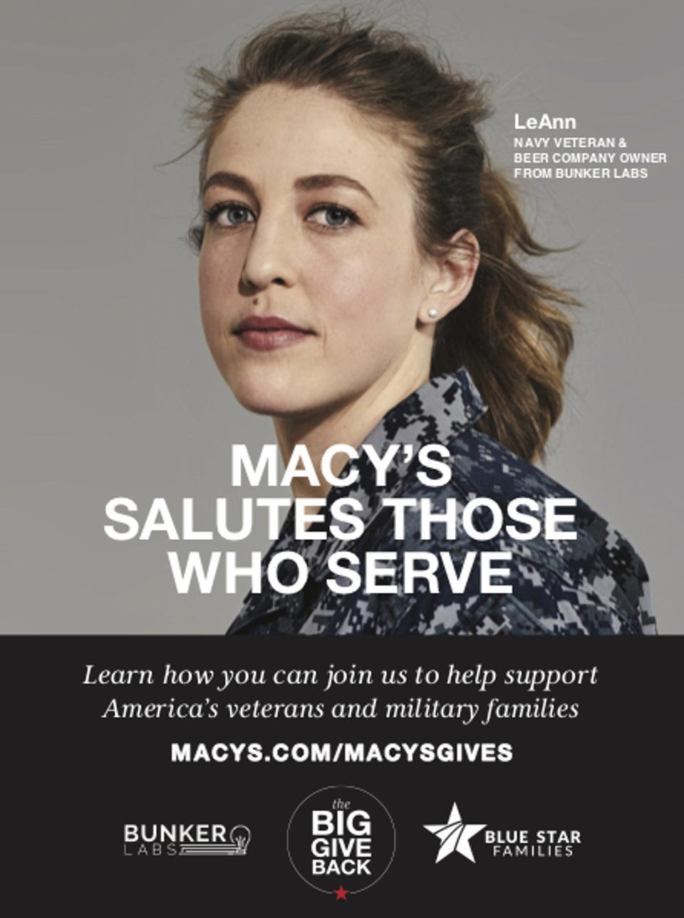 Macy's Salutes Those Who Serve