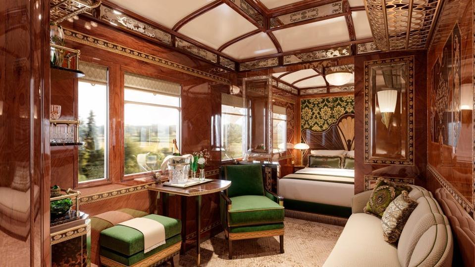 Orient Express Nacer Tazi Luksuzni potovalni črni rob Concierge