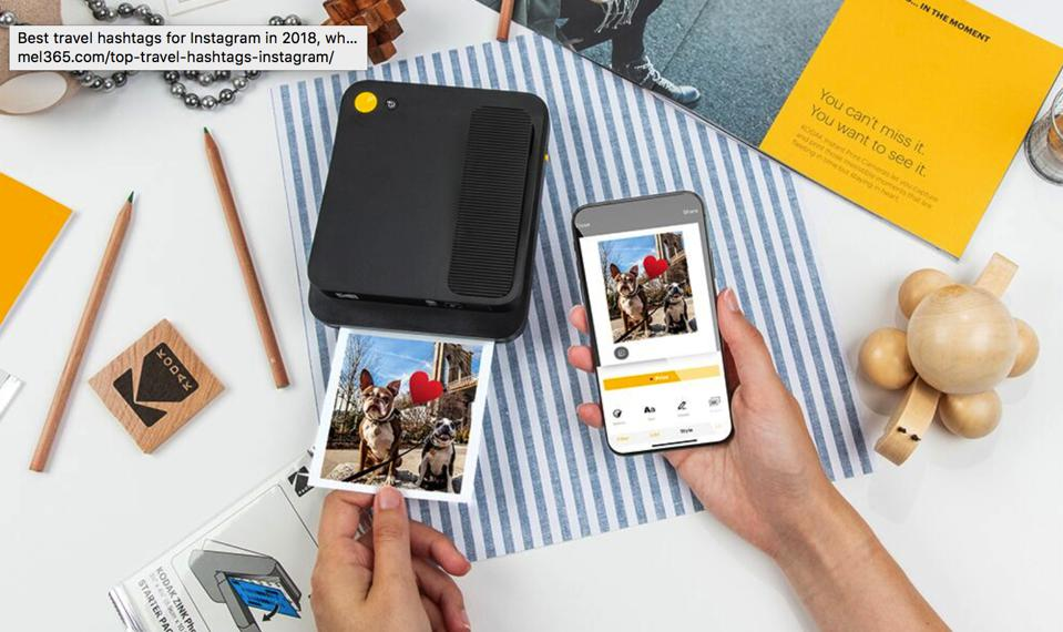 The Smile Classic Digital Instant Camera and accompanying app