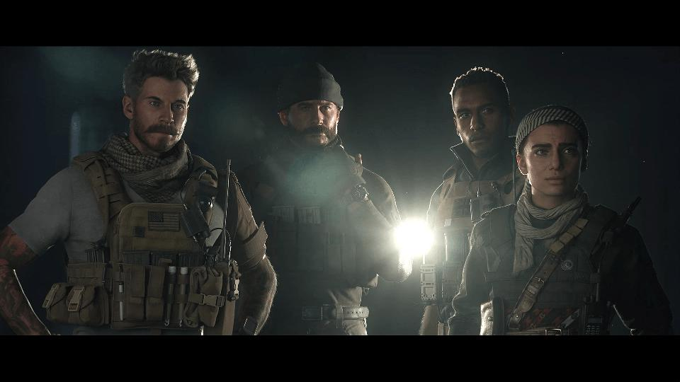 The four protagonists of Call of Duty: Modern Warfare.