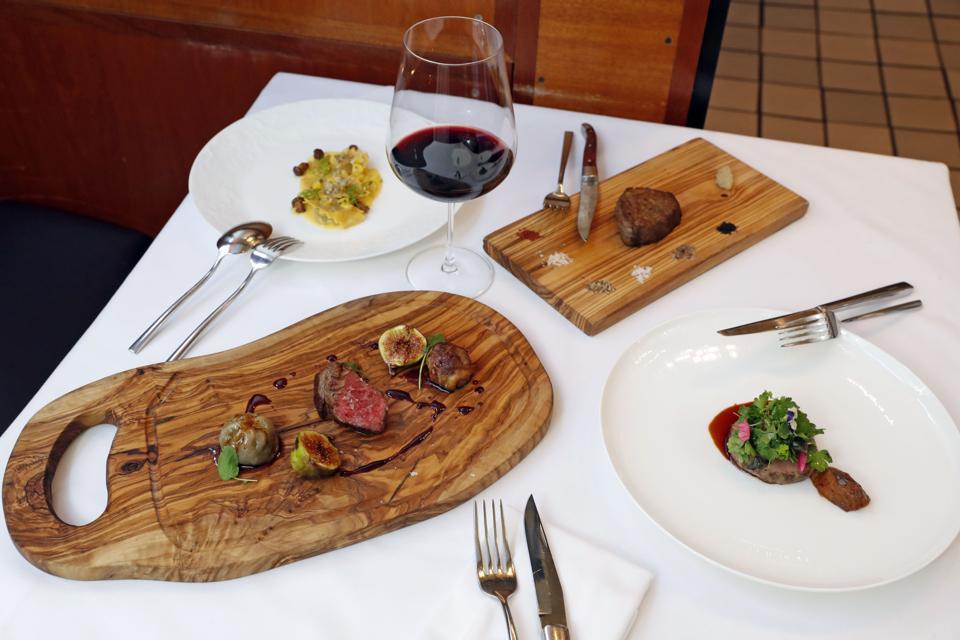 Alexander's Steakhouse tasting menu