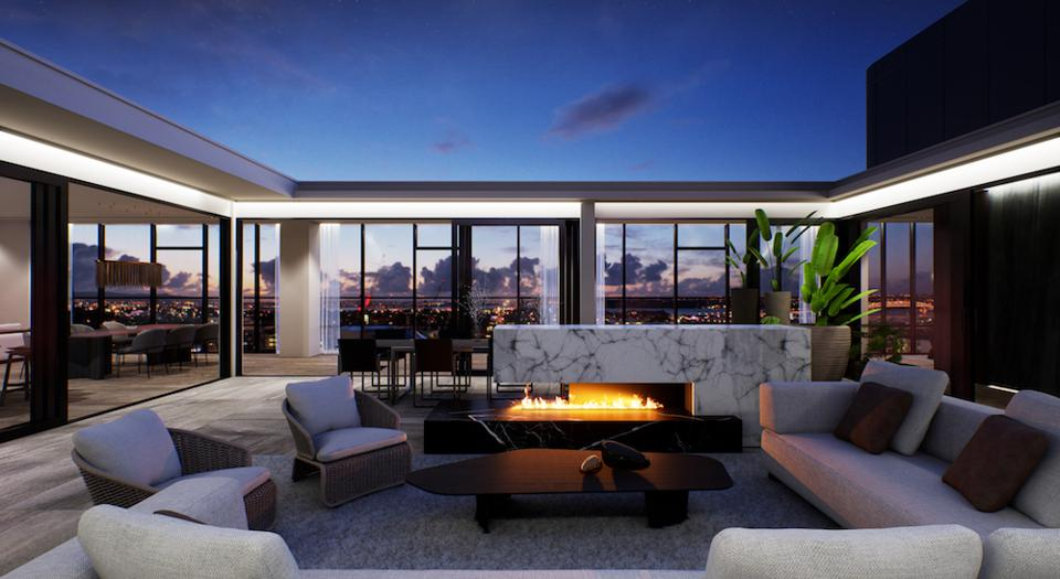 Rendering of the penthouse at The CAB, a building allowed to sell units to foreigners.