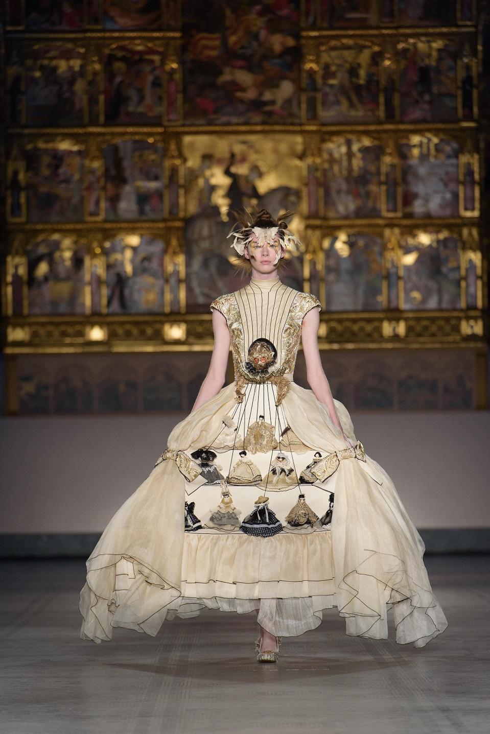 Guo Pei doll dress