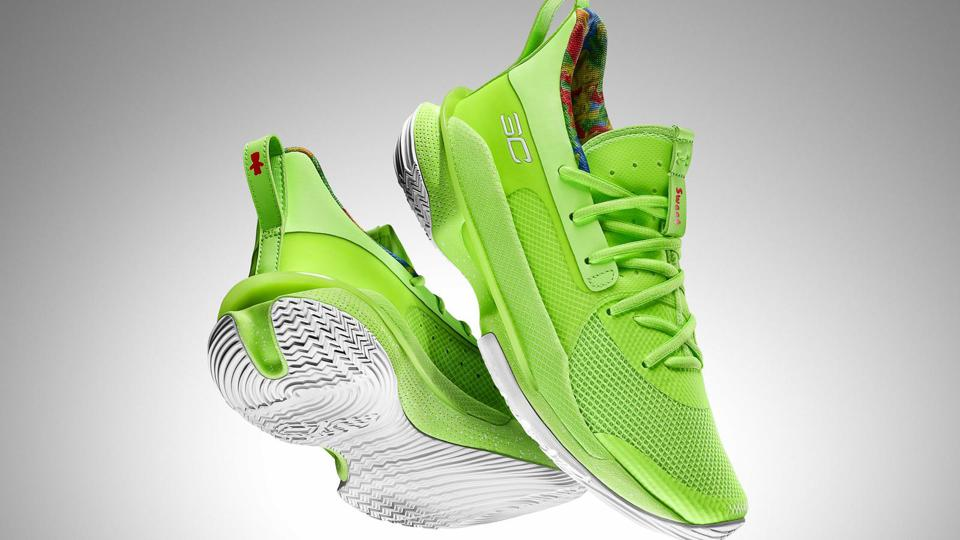 Under Armour Curry 7 Sour Patch Kids lime
