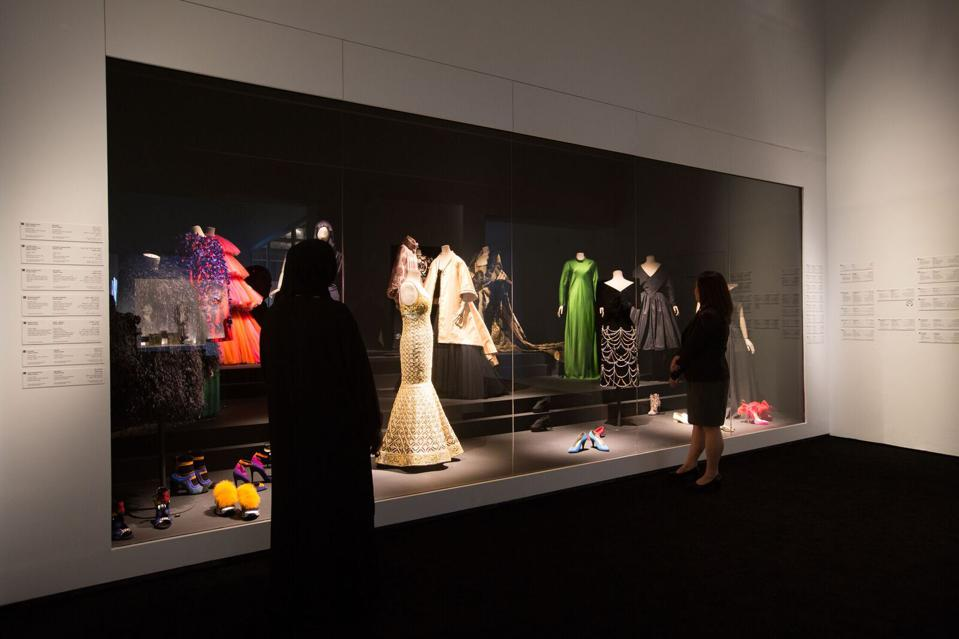 Luxury fashion features prominently throughout the exhibition with exceptional loans from major couture houses including Christian Dior, Givenchy, Chloé, Azzedine Alaïa, Maison Schiaparelli, Lanvin and more.