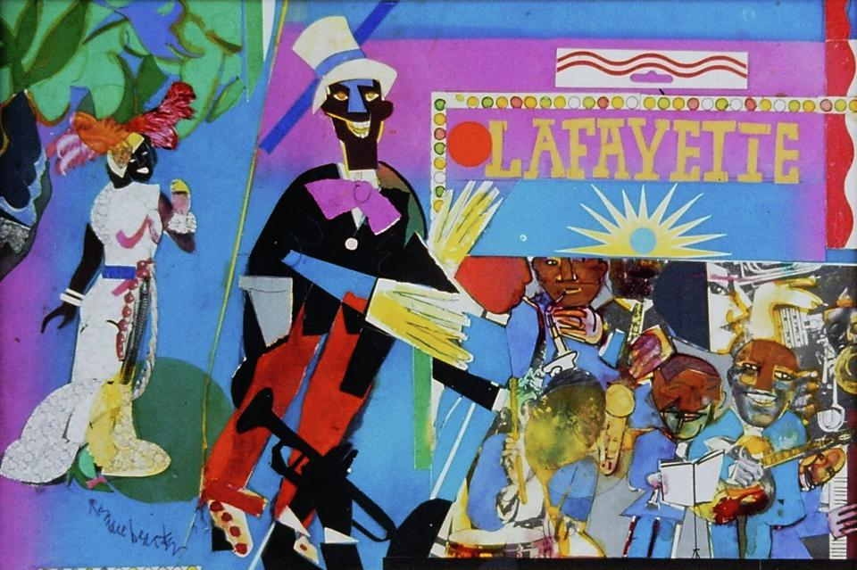 Romare Bearden (American, 1911–1988), Profile/Part II, The Thirties: Johnny Hudgins Comes On, 1981, collage on board.