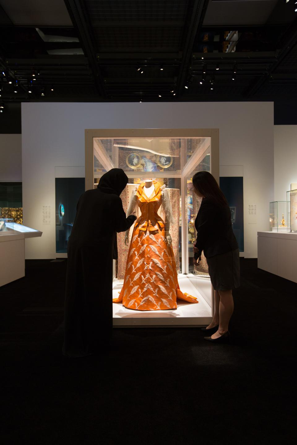 Looking at luxury in modern times, the exhibition goes on to showcase how the Industrial Revolution led to the emergence of the nouveaux riches, an elite with a more democratic access to luxury, such as haute couture.