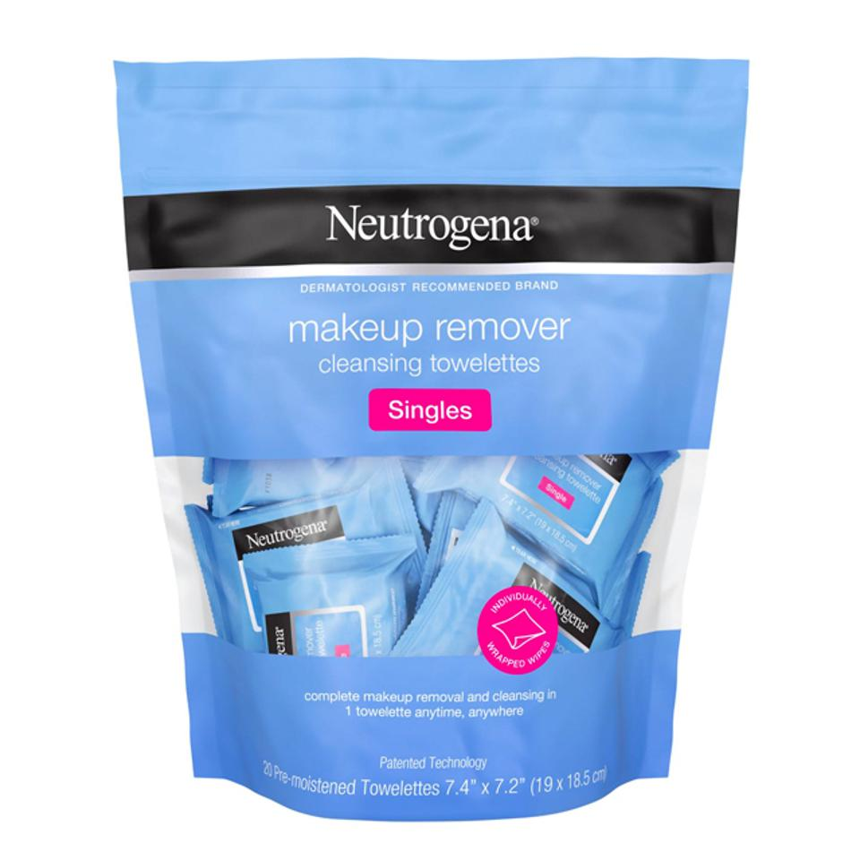 Neutrogena Individually Wrapped Makeup Remover Wipes, Alcohol-Free & Travel-Friendly Singles