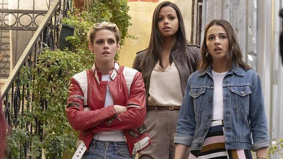 Kristen Stewart, Naomi Scott, and Ella Balinska in Charlie's Angels