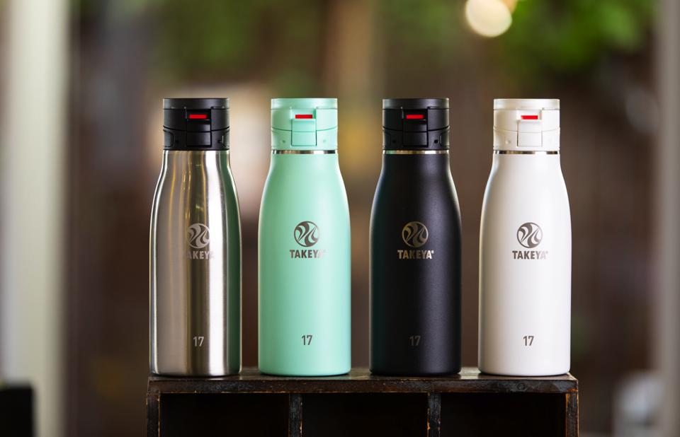 Four Takeya bottles