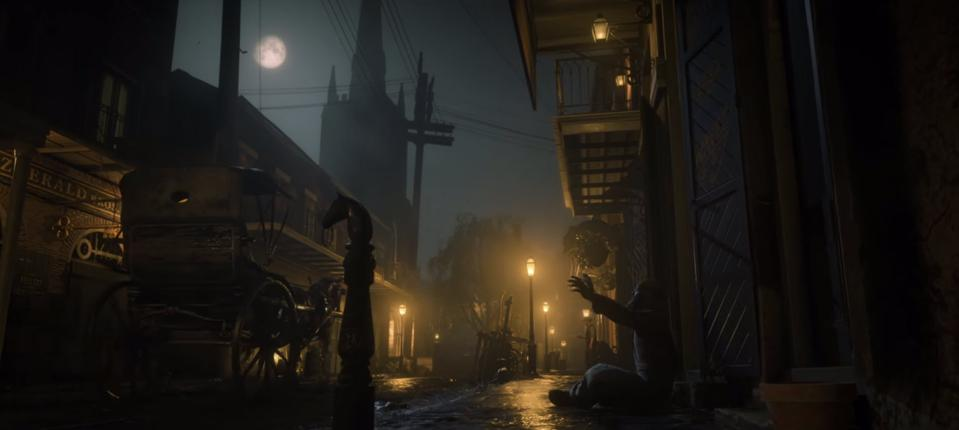 Night scene from 'Red Dead Redemption 2'