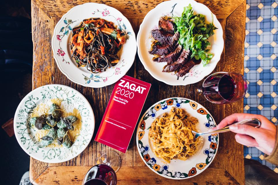 The 2020 Zagat guidebook was released in print today