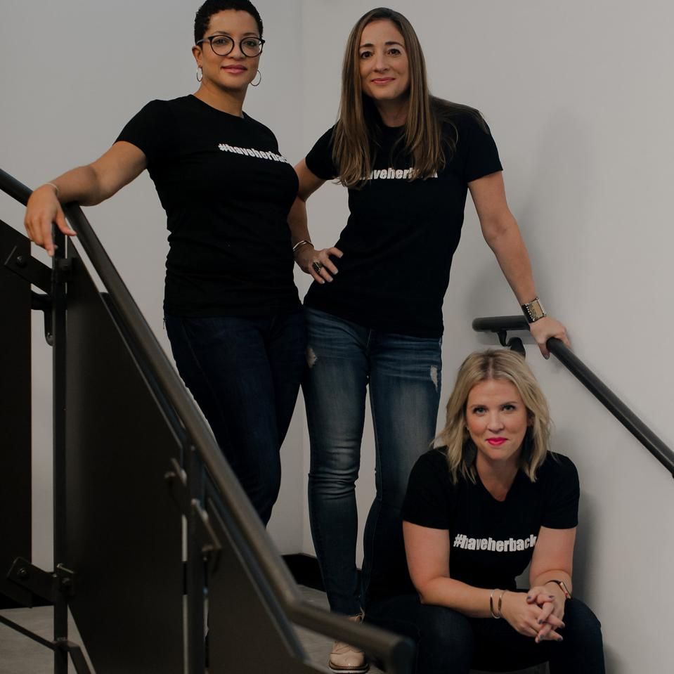 Co-Founders standing (Culpepper, Dettman) and sitting (Gallagher) on a staircase.