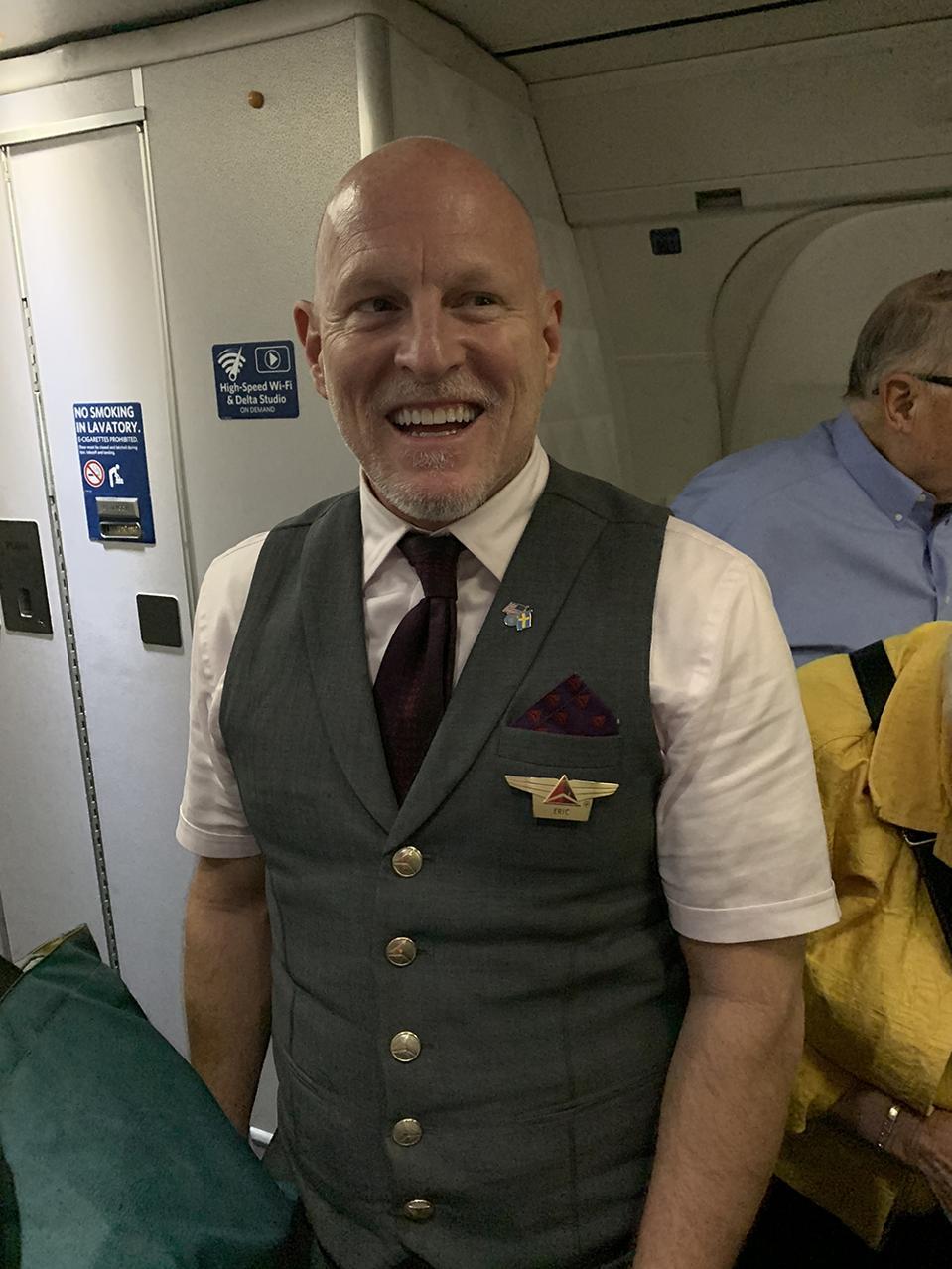 The best flight attendant ever.