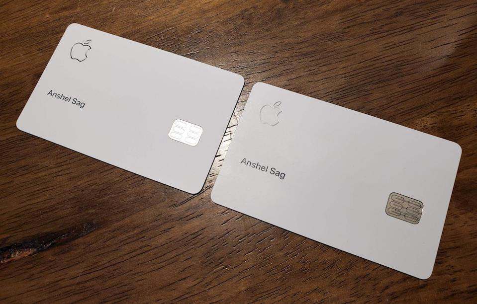 The titanium Apple Card.