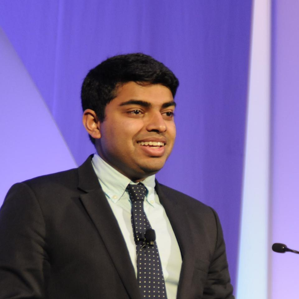 Nihal Satyadev, medical student and chairman and co-founder of the Youth Movement Against Alzheimer's disease.