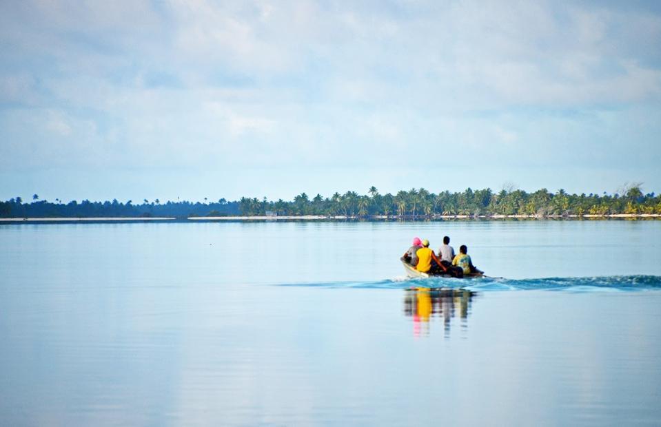 Boat on the lagoon