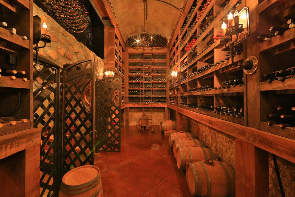 Conference barn wine cellar