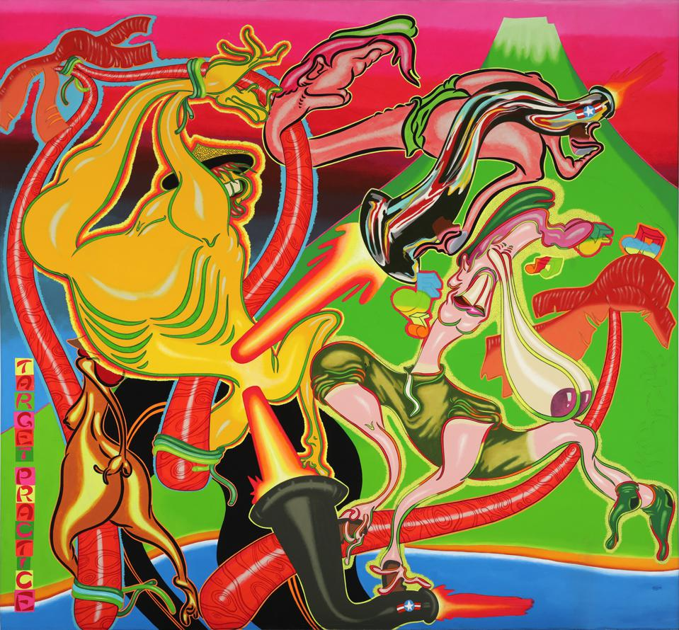 Peter Saul, Target Practice, 1968, acrylic on canvas. Hirshhorn Museum and Sculpture Garden, Smithsonian Institution, Joseph H. Hirshhorn Purchase Fund, 2016.