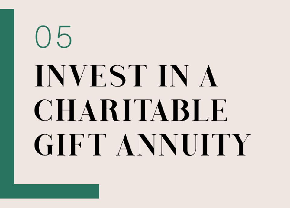 05 Invest In A Charitable Gift Annuity