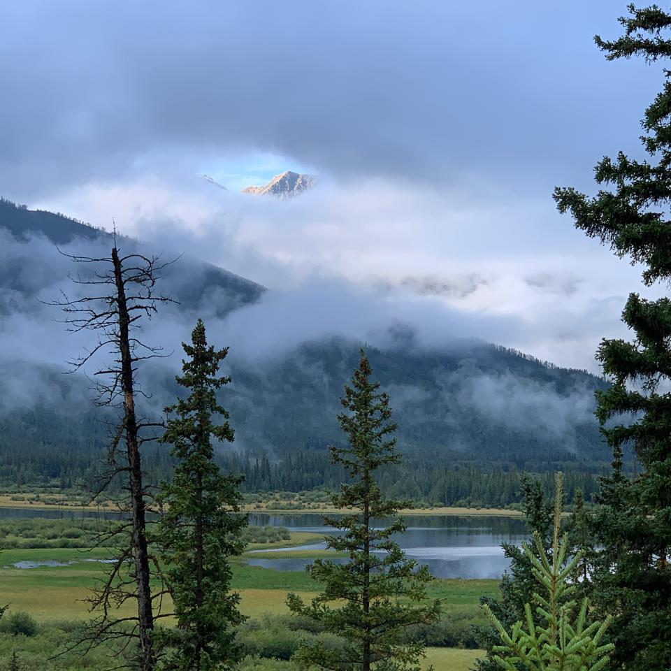 Gorgeous landscape one mile outside the town of Banff in Canada.