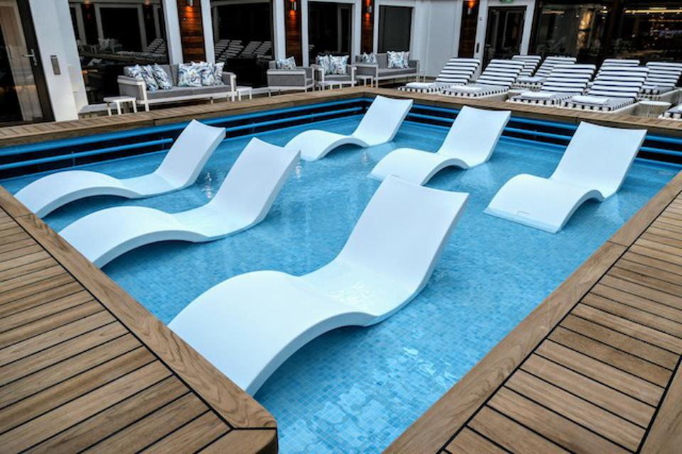The ultimate in relaxation in the Haven Courtyard