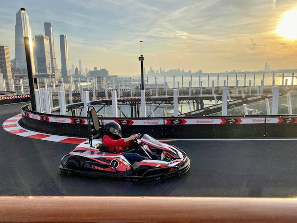 Go-kart racing over the Hudson in NYC