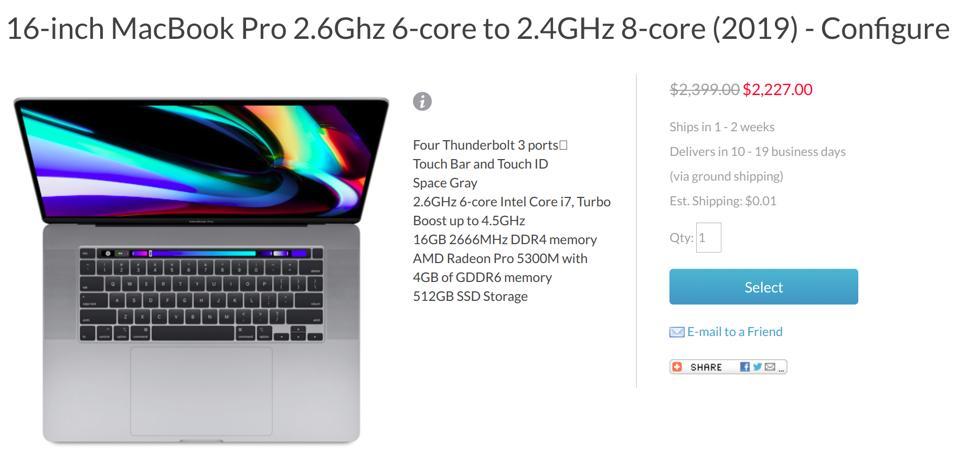 Apple MacBook Pro 16-inch sale, Apple MacBook Pro 16-inch deal,