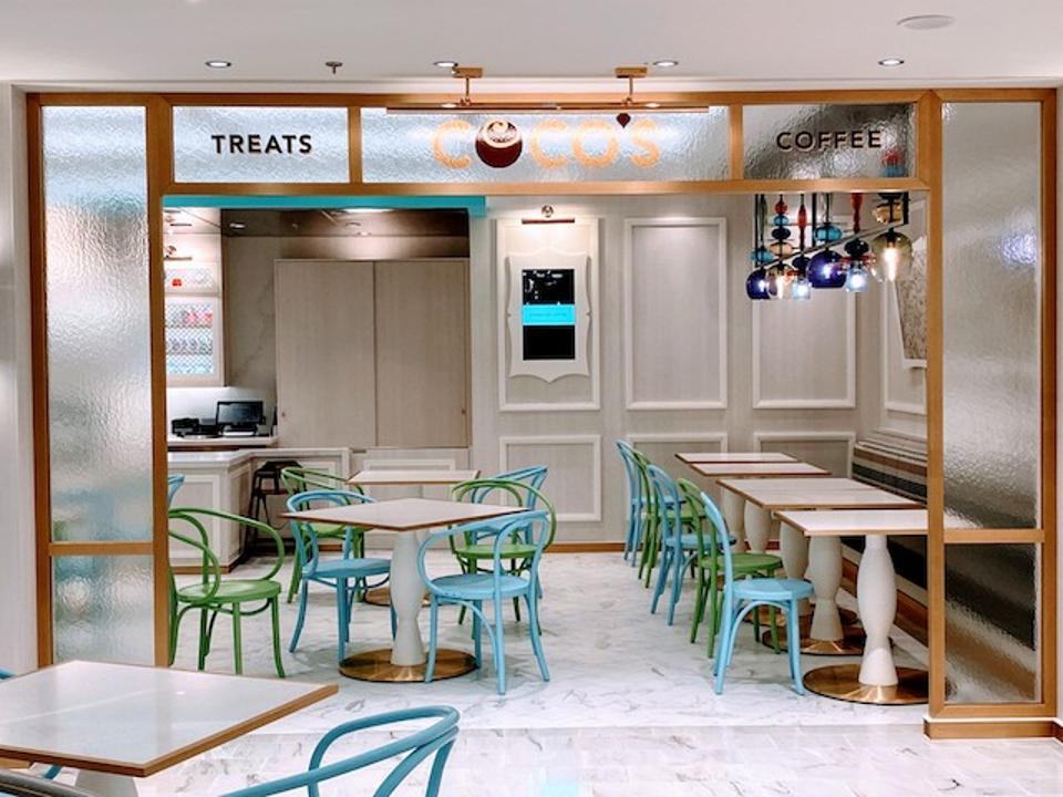 Coco's Chocolatier offers sweet indulgences; 50s design by Studio DADO