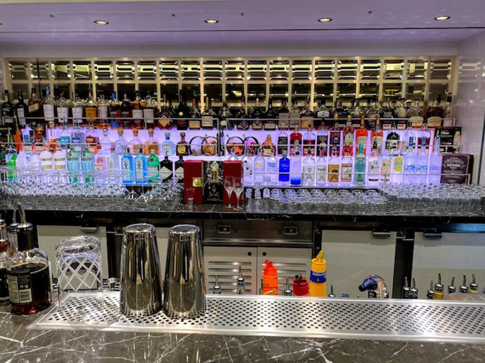Private bar in The Haven Lounge