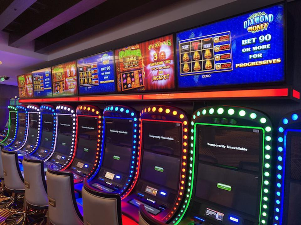 Gaming machines in the sprawling casino