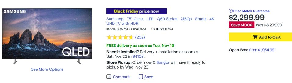 Best Buy Black Friday TV deals, Best Buy Black Friday TV sales