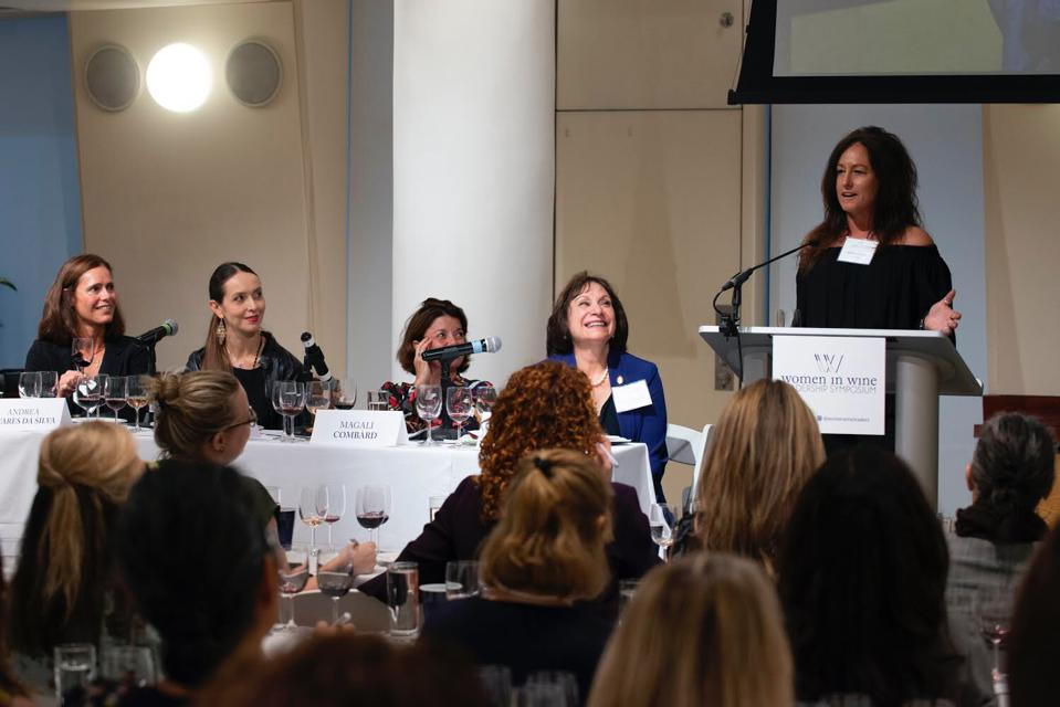 Guided tasting at the Women in Wine Leadership Symposium 2019 held in Manhattan