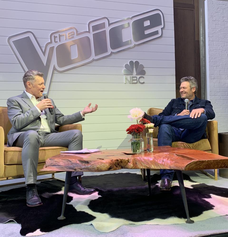 WSM Radio's Bill Cody and Blake Shelton